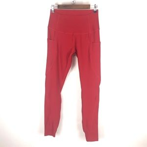 Tesla red leggings size Large